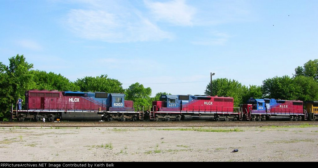 HLCX 6203, 6077 and 3814