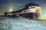796 at Night at the Historic Rail Park