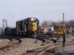 CSX F751 along with some MoW Workers