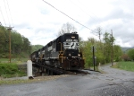 Apr 27, 2010:  NS local P-59 at the end of the Balsam grade