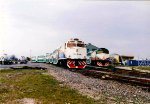Two Sets of Tri Rail Locomotives in Different paint Schemes