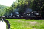 NS 3372 leads coal train