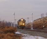 UP 1244 and a short train split the signals.