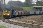 CSX Q676 -16 with GMTX switcher in tow.