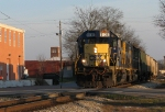 CSX A708 pulls onto the main