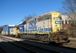 CSX Y111 tied up a the depot