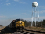CSX Q210 easing past the Madison County watertower