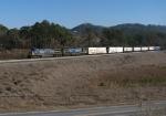 CSX 207 leads stack train Q142 north