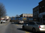 CSX 4708 splits through town