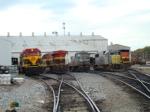 KCS motors lined up