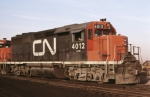 CN 4012 on lease to early Conrail is at the EL Croxton yard.