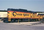 B&O 6603 GP9 at the Cumberland shops,