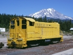 McCloud River 203 sits at the shops with Mount Shasta as a backdrop,