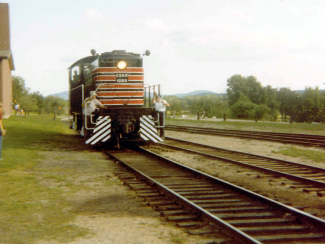 Conway Scenic #1055 is ex-Portland terminal