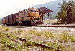 Short MEC Train passes the depot