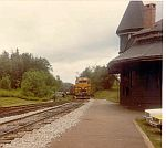 MEC Train approches the depot