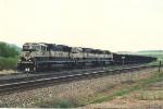 Loaded coal train cuts off helpers
