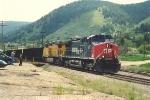 Empty coal train heads west