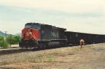 Rear DPU on empty coal train