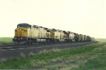 Eastbound loaded coal train