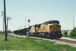 Northbound coal loads depart