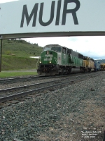 BNSF 9267 SD60M climbing to Muir Tunnel