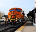 BNSF 7236 Leading the Christmas Train