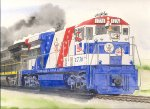 My great friend, Jim Matuska (http://matuskarailart.com) painted this beauty to serve as the cover illustration for the 4th Quarter 2011 edition of Lines South (ACL/SAL/SCL Historical Society Magazine). - Bicentennial paint