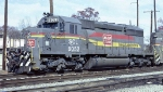 Seaboard Coast Line SD40-2 #8052, leading A&WP train #215,