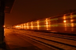 Metra at night