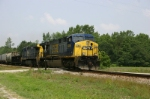 Eastbound CSX freight blows past