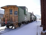 BN caboose, 2 ex. BN engines