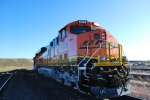 BNSF 6339 up close with her Road Number Lights lighting up in the bright sunlight.