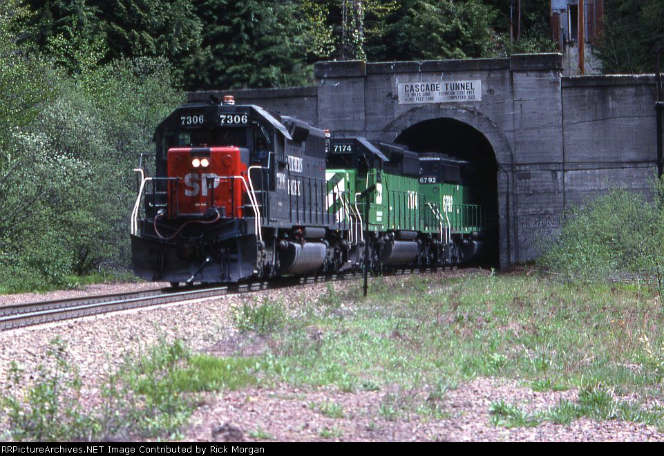 SP leads at Cascade Tunnel