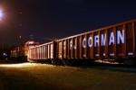 R.J. Corman sand train near River Road