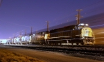 CSX Q574? north is passed by southbound autoracks at 8:44pm north of Osborn Yard