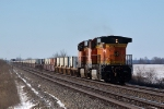 BNSF 7232 west's DPU's 10000 foot Stack Train