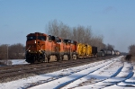 "BNSF 7556 shedding some ""Icicle tears"""