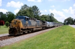 CSX AC-4400CW #153 leads a very late Northbound AUTO TRAIN across Halligan Park Road