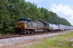 CSX AC-4400CW #153 leads a very late Northbound AUTO TRAIN just north of Collier Yard