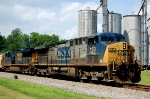 CSX AC-4400CW #153 leads a soutnbound past the old mill