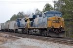 CSX ES-44DC #5219 leads a southbound grain train at Collier Yard