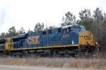 CSX ES-44DC # 5470 (lettered ES40DC on cab) leads a southbound at Collier Yard