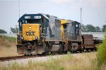 CSX SD-50 #8518 swithces the hot dog track adjacent to Collier Yard