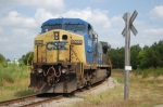 CSX C40-8W (C44-9W) sits on the hamburger track just outside of Collier yard