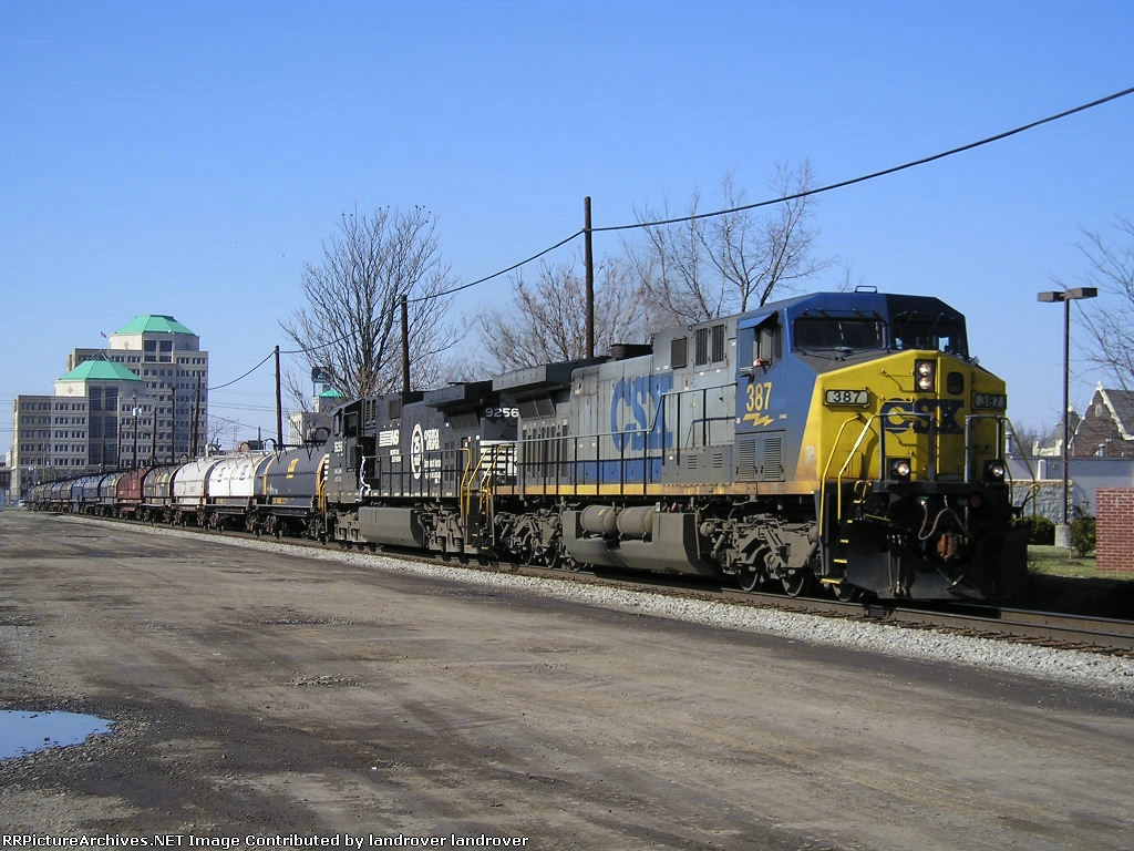 CSXT 387 & NS 9256 On CSX K 514 Eastbound