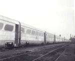 Long line of Aerotrain cars