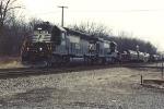 Westbound coil train
