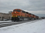 BNSF on the IHB @ S Austin Ave near Midway Airport with a brand new Gevo