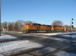 BNSF autorack train on the IHB